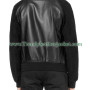 Andrew Garfield Suede Sleeves Black Leather Bomber Jacket1