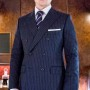 Kingsman Double Breasted Blue Suit
