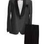 Men Gray and Black Tuxedo Suits Wedding Dinner Suit