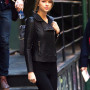 Taylor Swift Black Real Sheep Skin Leather Jacket 2