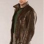 Dustin Milligan X Company Brown Real Cowhide Leather Jacket