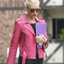 Gwen Stefani Pink Real Cowhide Leather Jacket 4