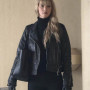 Jennifer Lawrence Red Sparrow Black Real Cowhide Leather Jacket