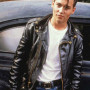 Johnny Depp Cry Baby Black Real Sheep Skin Leather Jacket