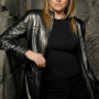 Lucy Lawless Battlestar Galactica Black Real Sheep Skin Leather Jacket