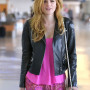 Bella Thorne Black Real Cowhide Leather Jacket