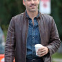 Eddie Cibrian Take Two Real Cowhide Leather Jacket