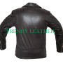 Men's fashionable leather jacket with Gold studs
