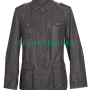 men's black real leather coat jacket