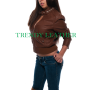 young girl brown fashionable real leather bikers jacket