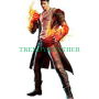 devil may cry 5 - dmc 5 - dante faux and real cow leather trench coat costume jacket.