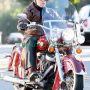 arnold schwarzenegger bikers leather jacket.