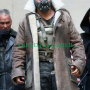"""bane the dark knight rises """"tom hardy""""brown distressed real leather trench coat / jacket"""