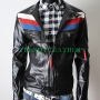 slimfit casual bikers real sheep skin leather jacket