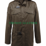 metal gear solid real sheep skin leather coat jacket