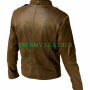 copper rubb off vintage brown real leather jacket