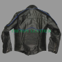 x-men wolverine black and blue bikers pure real leather jacket