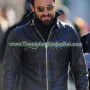 Justin Theroux Outerwear Motorcycle Leather Jacket