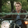 Captain America 2 Chris Evans brown real leather jacket