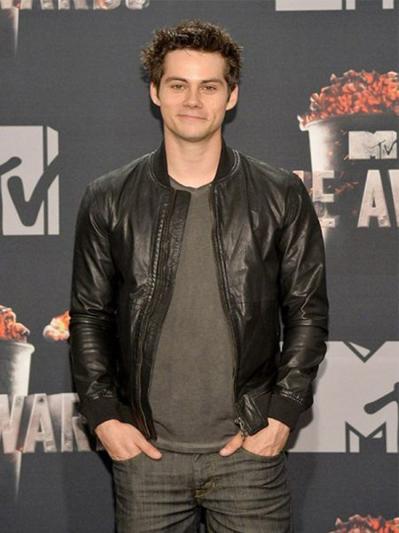 Dylan O'Brien Black Real Sheep Skin Leather Jacket ...