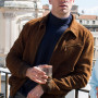 Armie Hammer The Man From UNCLE Dark Brown Suede Leather Jacket