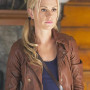 Anna Paquin True Blood Brown Real Sheep Skin Leather Jacket