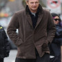 Liam Neeson A Walk Among The Tombstones Brown Suede Leather Coat