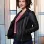 Paige Spara The Good Doctor Black Real Sheep Skin Leather Jacket