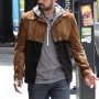 Sean Teale Brown The Gifted Suede Leather Jacket