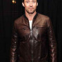 Hugh Jackman Brown Real Cowhide Leather Jacket
