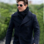 Tom Cruise Mission Impossible 6 Navy Blue Double Breasted Coat