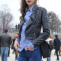 Karlie Kloss Real Sheep Skin Leather Jacket 4