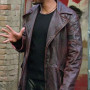 Will Smith I Robot Brown Real Cowhide Leather Jacket