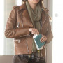 Blake Lively Real Cowhide Leather Jacket