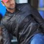 Gerard Butler Black Cowhide Leather Jacket 2
