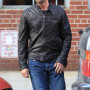 Gerard Butler Black Cowhide Leather Jacket 5