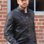 Gerard Butler Black Cowhide Leather Jacket