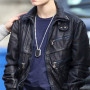 Justin Bieber Casual Real Sheep Skin Leather Jacket