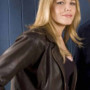 Mary McCormack In Plain Sight Real Cowhide Leather Jacket 4