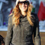 Sarah Jessica Parker Real Distressed Cowhide Leather Jacket 2
