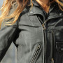 Sarah Jessica Parker Real Distressed Cowhide Leather Jacket 5