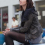 Emily Blunt Arthur Newman Real Distressed Cowhide Leather Jacket 2