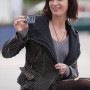 Emily Blunt Arthur Newman Real Distressed Cowhide Leather Jacket 3