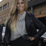 Laverne Cox Real Sheep Skin Leather Jacket