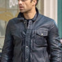 Sebastian Stan The Falcon And The Winter Soldier Real Cowhide Leather Jacket