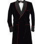 Black And Red Piping Long Coat 1 copy
