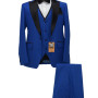 Royal Blue 3 Pie One Buttton Suits 01 copy