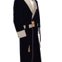 Navy Blue And Biscuit Satin Lapel Gown 03 copy